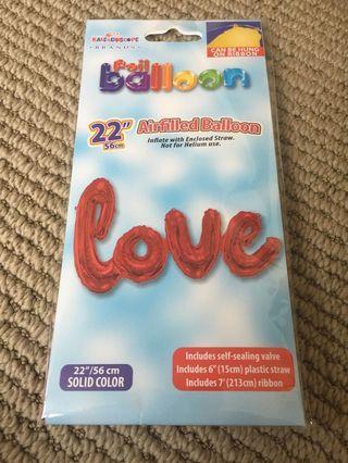 🚚 Red Love Foil Balloon