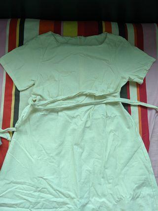 文青米色裙 及膝