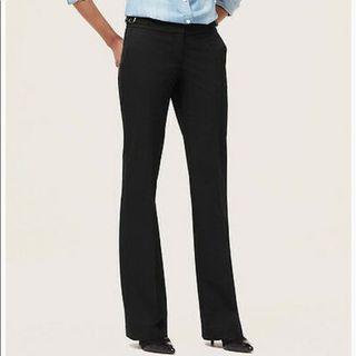 Ann Taylor LOFT Julie grey buckle trousers