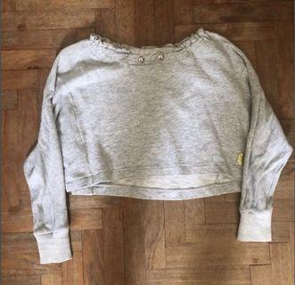Grey Crop Pullover