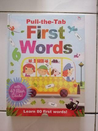 Pull the tab first words with 40 flash cards