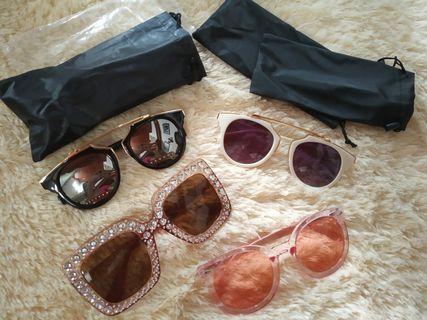 Sunglasses sale 4 pcs kacamata gaya