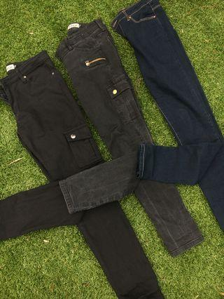 Various jeans