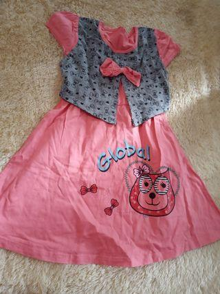 Dress Anak cewek lucu 5 tahun