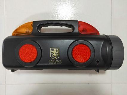 Tool kits with blinking lights.