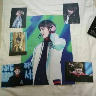 Fansite Goods BTS  Taehyung VTAC poster, big photocard (FREE jungkook postcard)