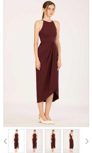 USED Doublewoot dress - BO NEW DOCAZY (DARK RED)  Wore once only, like new condition