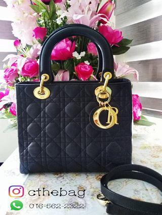 authentic lady dior bag with strap