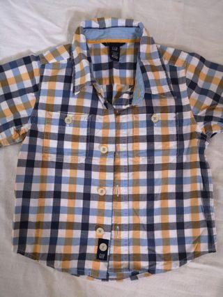 Baby Gap Checkered Shirt 2yr