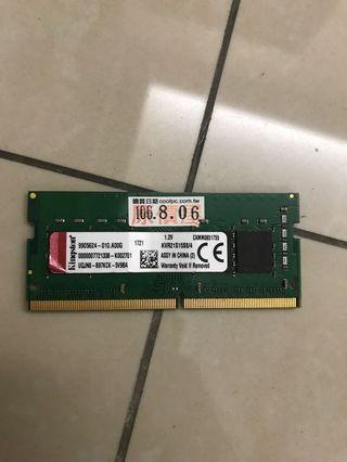 🚚 金士頓 筆電記憶體 2133 ddr4 4Gb