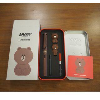 Lamy X Line Friends 熊大鋼筆組 紅色鐵盒裝