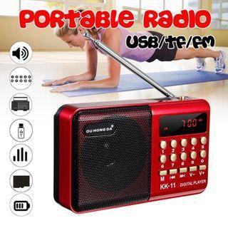 Radio Portable Mini FM Multifunctional Music Player USB Charging Insert Card