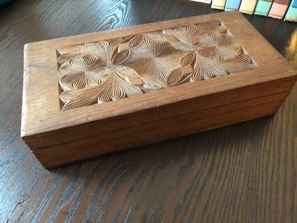 Big Wooden Box Vintage Nepal craft craved