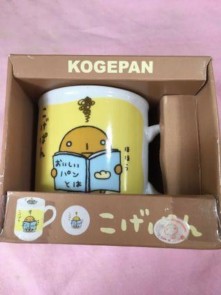 中古 San-X Kogepan 烘燶麵包 有蓋水杯