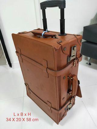 CELINI Leather Vintage Luggage.