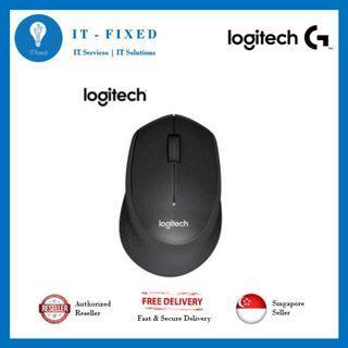 🚚 Logitech M331 Slient Black Mouse