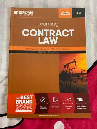 Contract Law Study Manual