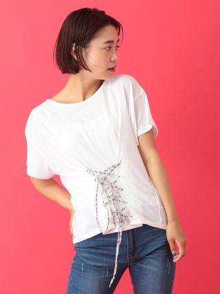 出清!日本品牌前綁帶白T-shirt