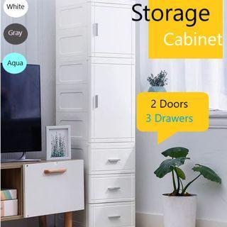 BN Slim Storage Drawer Cabinet ( 2 Doors + 3 Drawers ) 35CM