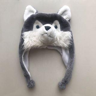 Snow Wolf Fluffy Winter Hat / Cap