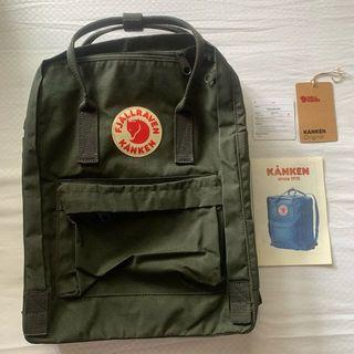 100% ORIGINAL READY STOCK Fjallraven Kanken Backpack forest green hijau army
