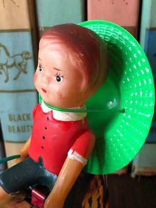 Vintage tin toys farm farmer boy & duck mint box