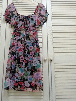 Good quality Red Floral Dress