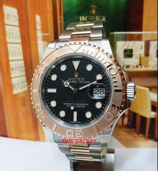 Rolex Yatch Master Half Rosegold Black Dial