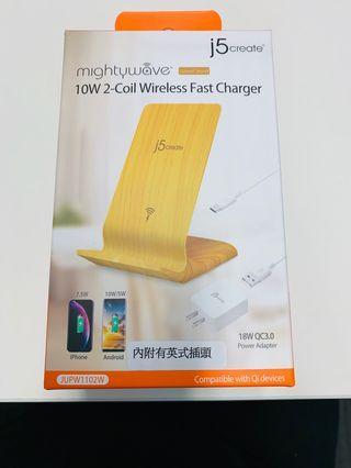 j5create Wireless Fast Charger 快速無線充電器