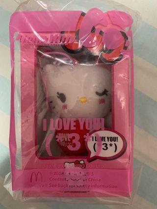 Hello Kitty 公仔掛飾 (I Love U *3*/ I Miss U *_*)