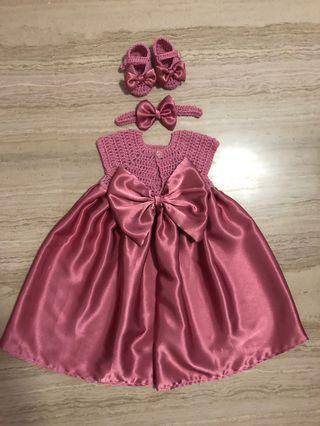 🚚 Crochet baby girls dress set