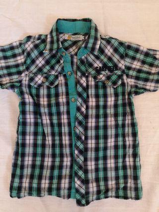 Garfield brand Boy Checkered Shirt 4t
