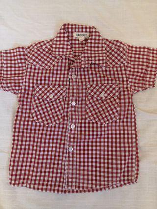 Cherokee Boy Checkered Shirt 4t