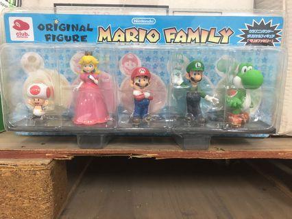 Nintendo 非賣品 Mario Family Figure 一套五款