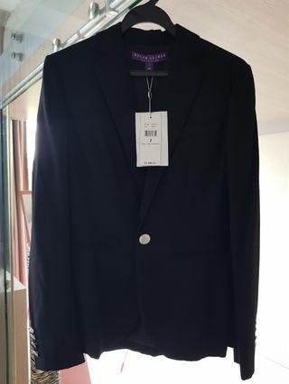 RALPH LAUREN WOMAN PURPLE LABEL black jacket blazer S