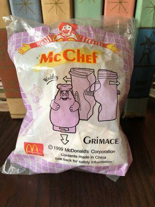 McDonald Toy 1999 mint in pack Mc Chef Grimace Waddles