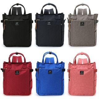 Authentic Anello/POST10 pocket 2WAY tote rucksack -AT-C1225