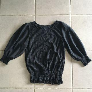 Lace long sleeves top