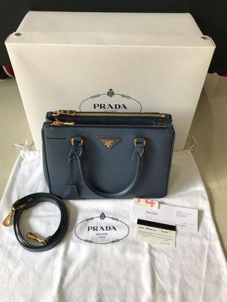 Prada Blue SAFFIANO LUX handbag