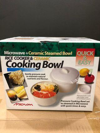 Rice cooker & ceramic cooking bowl