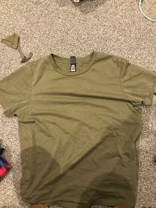 As colour khaki tshirt