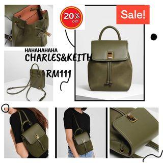 CHARLES&KEITH BACKPACK ORIGINAL