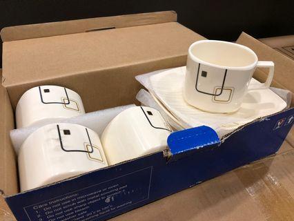 5 pcs cup & saucer set