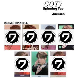 WTB> GOT7 Jackson Spinning Top Photocards