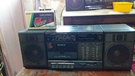 Combo sony vintage walkman + mini compo