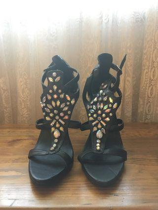 Misguided Gemstone Black Heels
