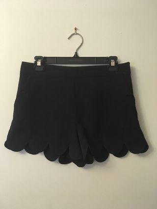 Lipsy London black dress shorts