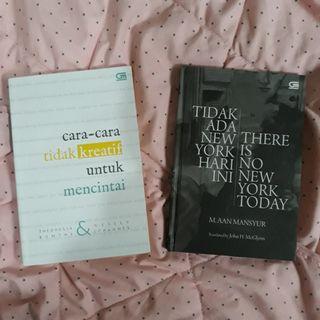 Buku puisi Cara-cara tidak kreatif untuk mencintai dan There is No New York Today