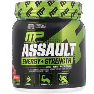 MusclePharm, Assault, Energy + Strength, Pre-Workout, Fruit Punch, 345 g