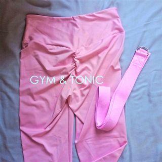 High Waist Fitness Leggings warna PINK (M)